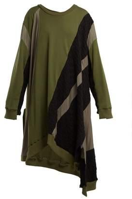 Koché Koche - Asymmetric Hem Cotton Jersey Dress - Womens - Khaki