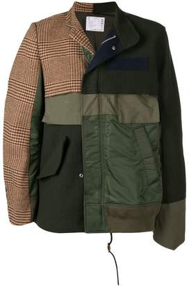 Sacai patchwork jacket