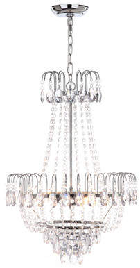 House of Hampton Maxwell 3-Light Crystal Chandelier