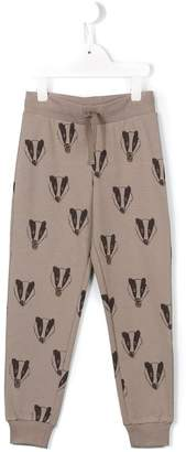 Mini Rodini badger print track bottoms