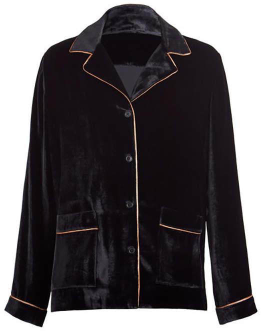Silk Blended Velvet Pj Shirt