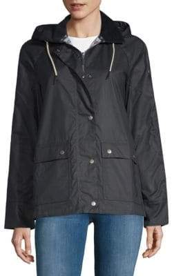 Barbour Rief Waxed Cotton Hooded Jacket