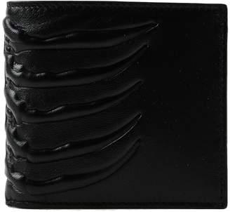 Alexander McQueen Rib Cage Bill Fold Wallet