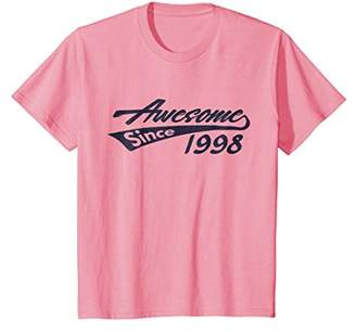 Awesome Since 1998 T-Shirt Cool Vintage 20 Year Old Birthday