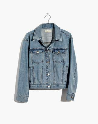 Madewell The Boxy-Crop Jean Jacket in Fitzgerald Wash