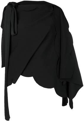 Valentino wrap around asymmetric top