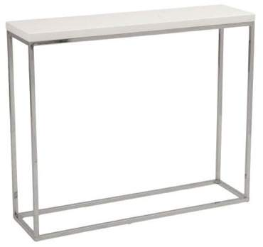 Kings Road Console Table WHITE/CHROME