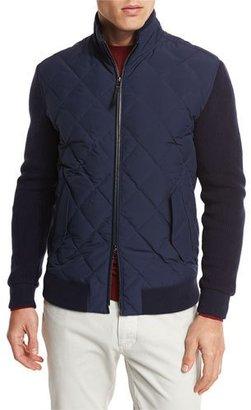 Ermenegildo Zegna Quilted Full-Zip Jacket $1,995 thestylecure.com