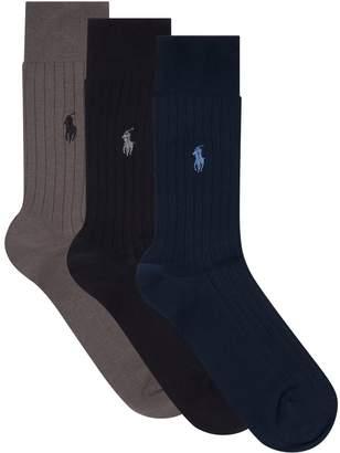 Polo Ralph Lauren Egyptian Cotton Socks (Pack of 3)