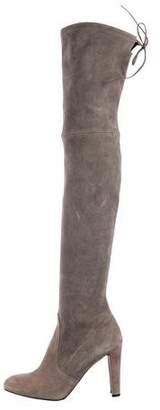 Stuart Weitzman Hiline Suede Over-The-Knee-Boots