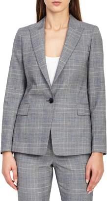 Reiss Joss Check Plaid Suit Jacket