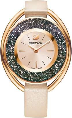 Swarovski Crystalline Oval Watch, Beige
