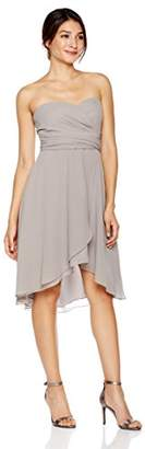 Cambridge Silversmiths The Collection Women's Sweetheart Neckline Chiffon Fit-and-Flare Short Dress 0