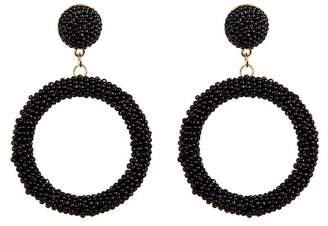 Suzanna Dai Beaded Hoop Drop Earrings