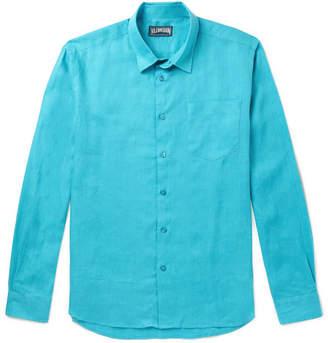 Vilebrequin Caroubis Linen Shirt - Men - Turquoise