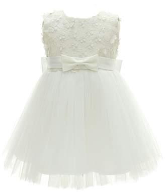 Kids Showtime Baby Girl Sleeveless Baptism Gowns Flower Girl Dress(,36M)