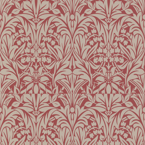 Graham & Brown Manor House Roll Red Gold