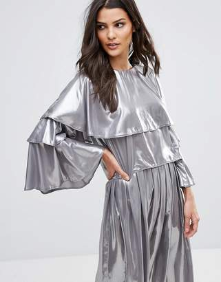 Love Layered Flute Sleeve Top