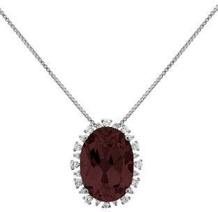 Lord & Taylor Smoky Quartz Pendant Necklace