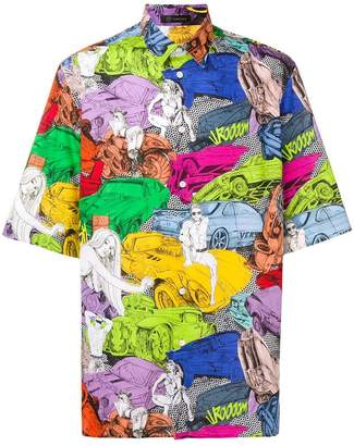 Versace car print shirt