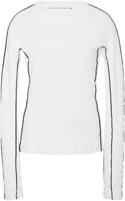 Rosetta Getty Contrast Seam Long Sleeve Cotton Shirt