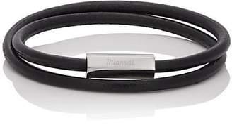 Miansai Men's Bare Double-Wrap Bracelet - Black