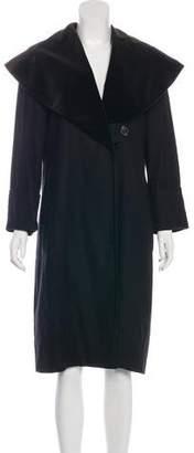 Pauw Linen Velvet-Accented Coat