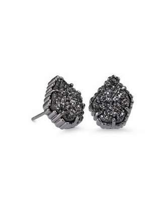 Kendra Scott Tessa Black Druzy Button Earrings