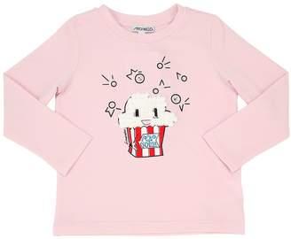 Simonetta Popcorn Print Jersey Long Sleeve T-Shirt