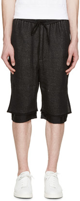 3.1 Phillip Lim Black Layered Lounge Shorts $225 thestylecure.com