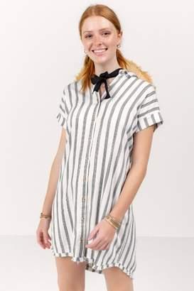 Megan Shirt Dress - Green