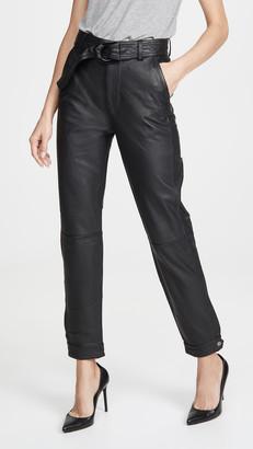 J Brand Jonah High Rise Leather Pants