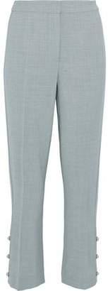 Jason Wu Cropped Button-Detailed Crepe Straight-Leg Pants