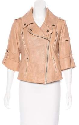 Donna Karan Leather Moto Jacket