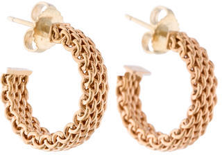 Tiffany & Co. Sommerset Hoops $495 thestylecure.com