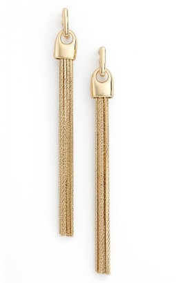 Women's Nordstrom Tassel Chain Drop Earrings $39 thestylecure.com
