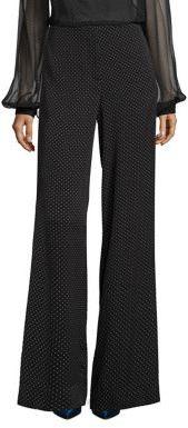 Diane von Furstenberg Wide Leg Silk-Blend Pants $398 thestylecure.com