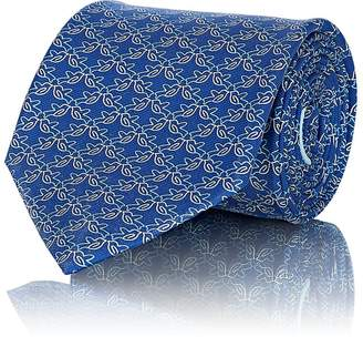 Salvatore Ferragamo Men's Dove-Print Silk Twill Necktie