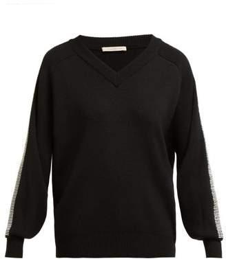 Christopher Kane Crystal Embellished Trim Wool Sweater - Womens - Black