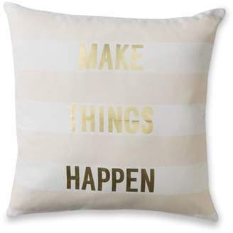 Mainstays Stripe Make Things Happen Metallic Throw Pillow