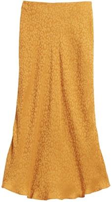 Banana Republic Leopard Midi Slip Skirt