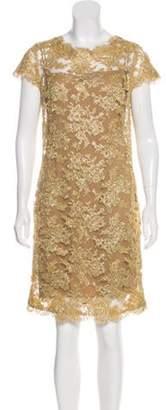 Reem Acra Metallic Lace Dress w/ Tags Gold Metallic Lace Dress w/ Tags