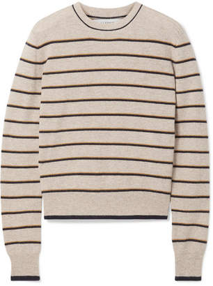 BEIGE La Ligne - Neat Striped Wool And Cashmere-blend Sweater