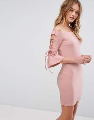 Parisian Off Shoulder Bodycon Dress