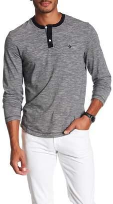 Original Penguin Long Sleeve Henley Shirt