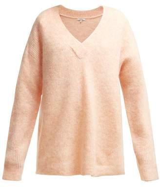 Ganni Callahan V Neck Sweater - Womens - Light Pink