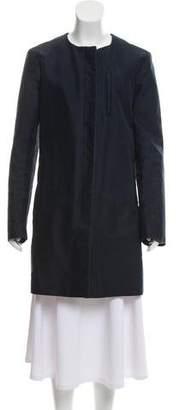 Helmut Lang Collarless Button-Up Jacket