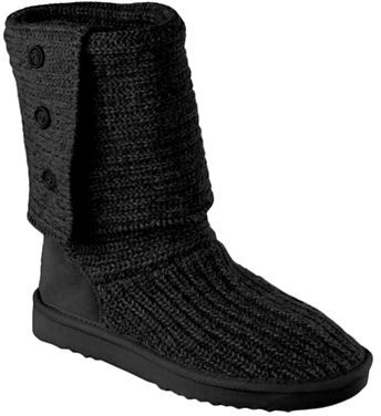 UGG Ladies Cardy Knit Flat Boots