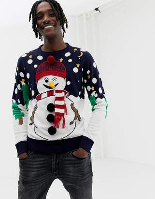 Brave Soul Holidays Naughty Snowman Sweater