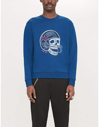 The Kooples Skull-print stretch-cotton sweatshirt